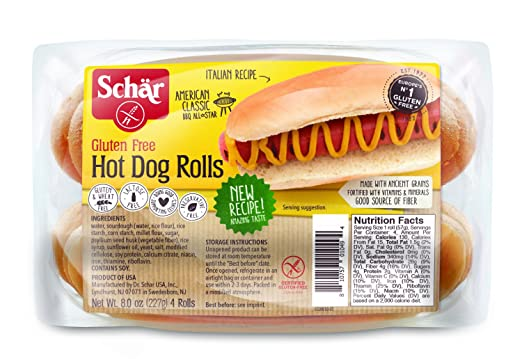 Schar Gluten Free Hot Dog Rolls, 8 Ounce (Packaging May Vary)