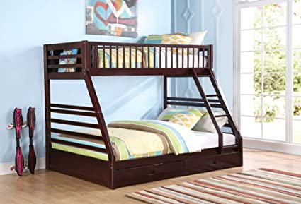 Amazoncom 1perfectchoice Jason Youth Kid Bedroom Twin Xl Over