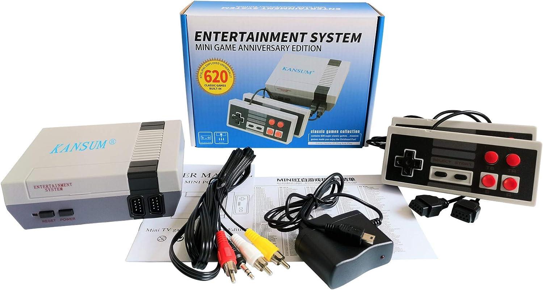 Consola de juegos Mini TV TV familiar clásica de 620 juegos, consola portátil Sistema de juegos retro Consola portátil con controlador dual, te trae recuerdos felices de la infancia: Amazon.es: Videojuegos
