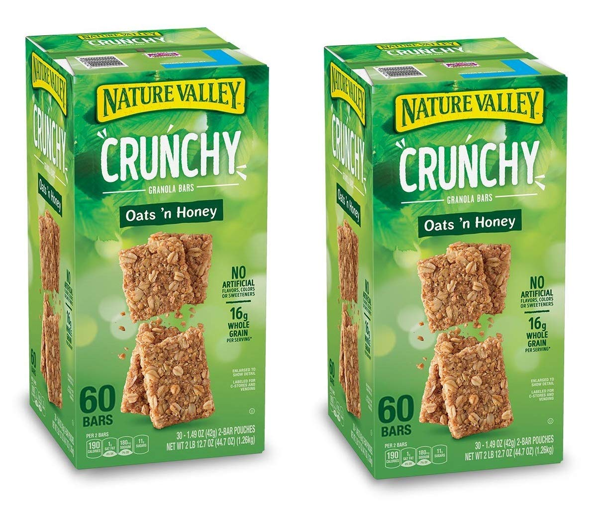 Natures Valley granola bars, Crunchy Oats N Honey, 60 Bars (2 Boxes) by Nature Valley