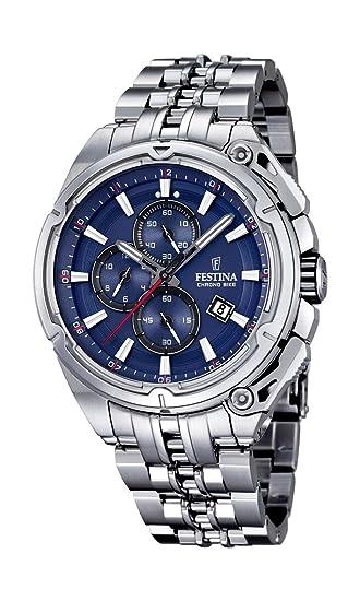 Festina F16881/2 - Reloj de Pulsera Hombre, Acero Inoxidable, Color Plateado: Amazon.es: Relojes