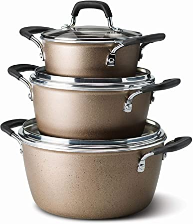 Tramontina 6-Piece Stackable Cookware Set Copper