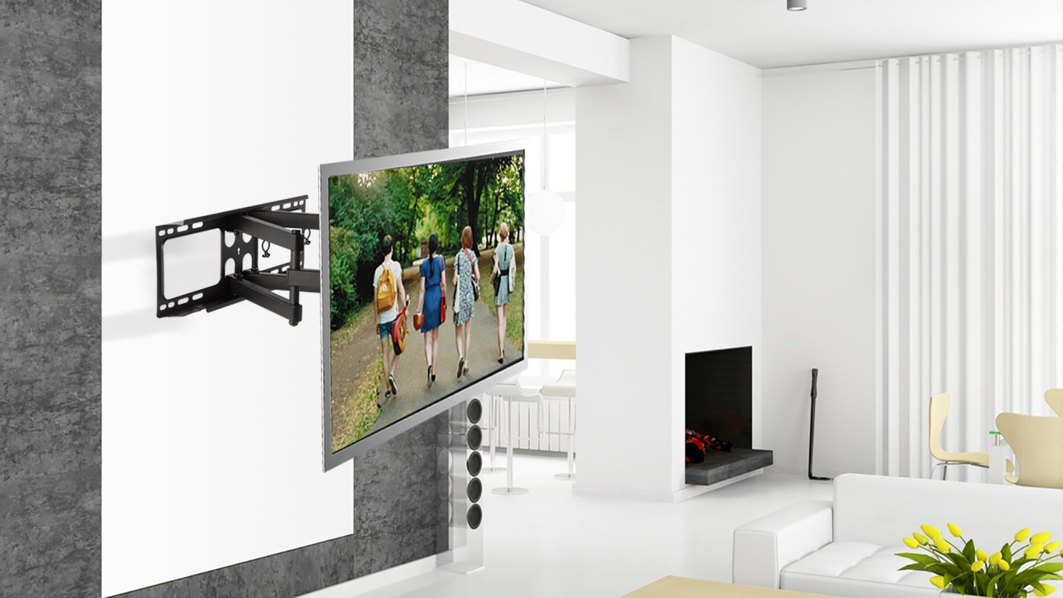 Amazoncom Gforce Gf P1124 1173 Full Motion Tv Mount 32 55