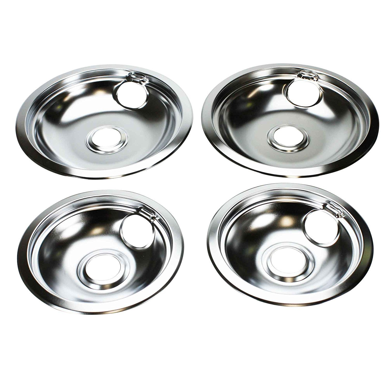 "316048413 & 316048414 Drip Pan Set (2x 6"" + 2x 8"") Compatible with Frigidaire Range Oven"