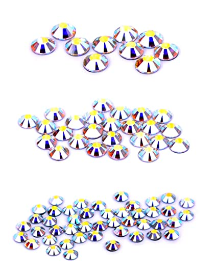 8ff5a35ded Amazon.com: Swarovski 80 Piece Hot Fix Crystals Combo Pack, AB by Create  Your Style: Arts, Crafts & Sewing