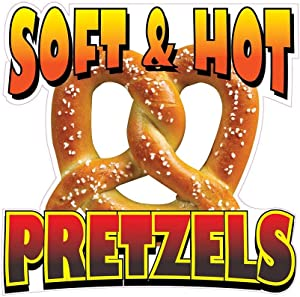 Soft & Hot Pretzels Concession Decal Sign Restaurant Food Truck Vinyl Sticker 10 inches
