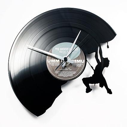 Disc o Clock Reloj de Pared, PVC, Negro, ...