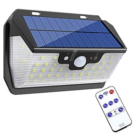 Bovon Luz Solar, 55 LED Foco Solar con Sensor de Movimiento, Luces Solares Exterior