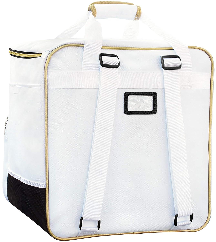 Bolsa de Deporte Accesorios Mochila para Botas de esqu/í Brubaker Grenoble Casco Color Blanco//Dorado
