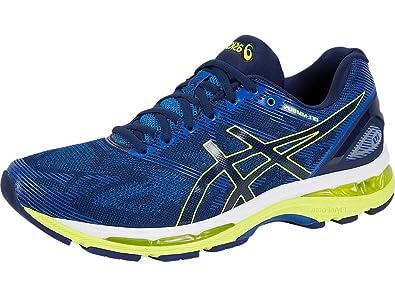 best website aa426 c7a56 ASICS Men's Gel-Nimbus 19 Indigo Blue, Safety Yellow and ...
