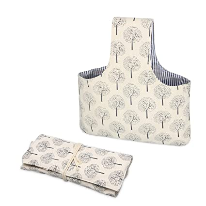 Amazon Teamoy 2 Pack Canvas Knitting Tote Bag And Knitting