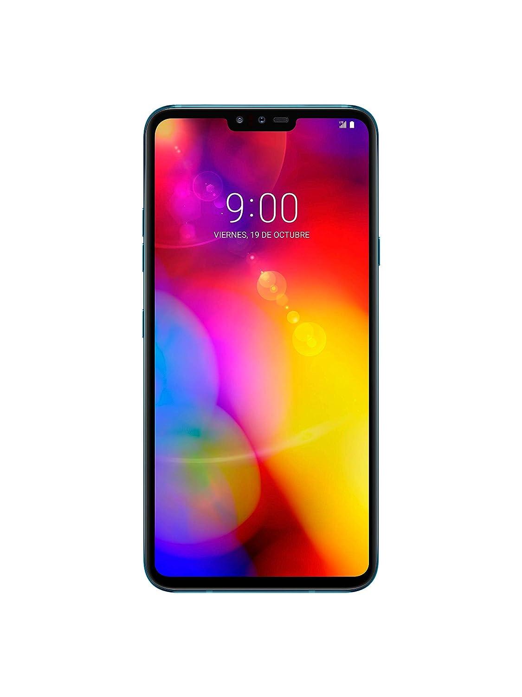 LG V40 - Smartphone Libre de 6.4 QHD+ (5 cámaras 16 MP f1.9, 6 GB RAM, 128 GB Memoria, Sistema en español) Color Azul