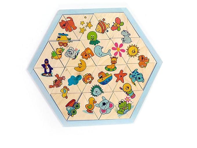 Legespiel Bauernhof 34 Teile 250 x 250 x 20 NEU Holzpuzzle Kinderpuzzle Puzzles