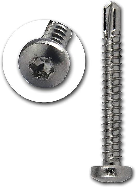 PROTECH 50 St/ück Bohrschrauben Form M TORX 3,9x38 DIN 7504 Edelstahl A2 V2A Rostfrei Blechschrauben/Linsenkopfschraube