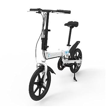 """SmartGyro Ebike White - Bicicleta Eléctrica, Ruedas de 16"""", Asistente al Pedaleo,"""
