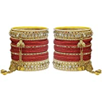 MUCH MORE Royal Dangle Look Charm,ing Bangles Set for Women Jewelry