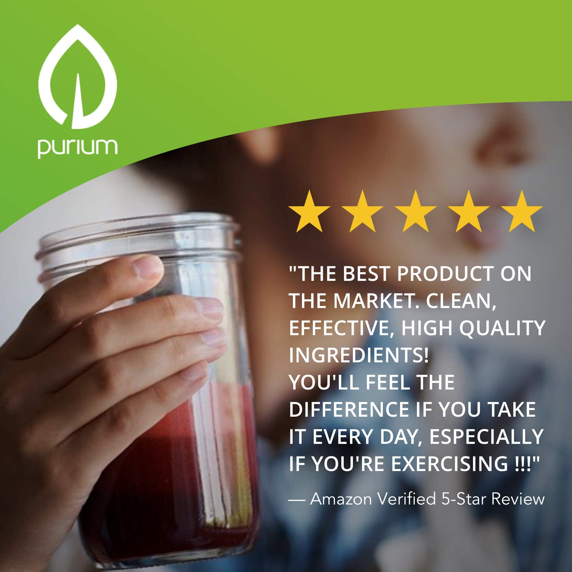 Purium Power Shake - Apple Berry Flavor - 1065 grams - Vegan Meal Replacement Powder, Protein, Vitamins & Minerals - Certified USDA Organic, Gluten Free, Kosher - 30 Servings by Purium (Image #2)