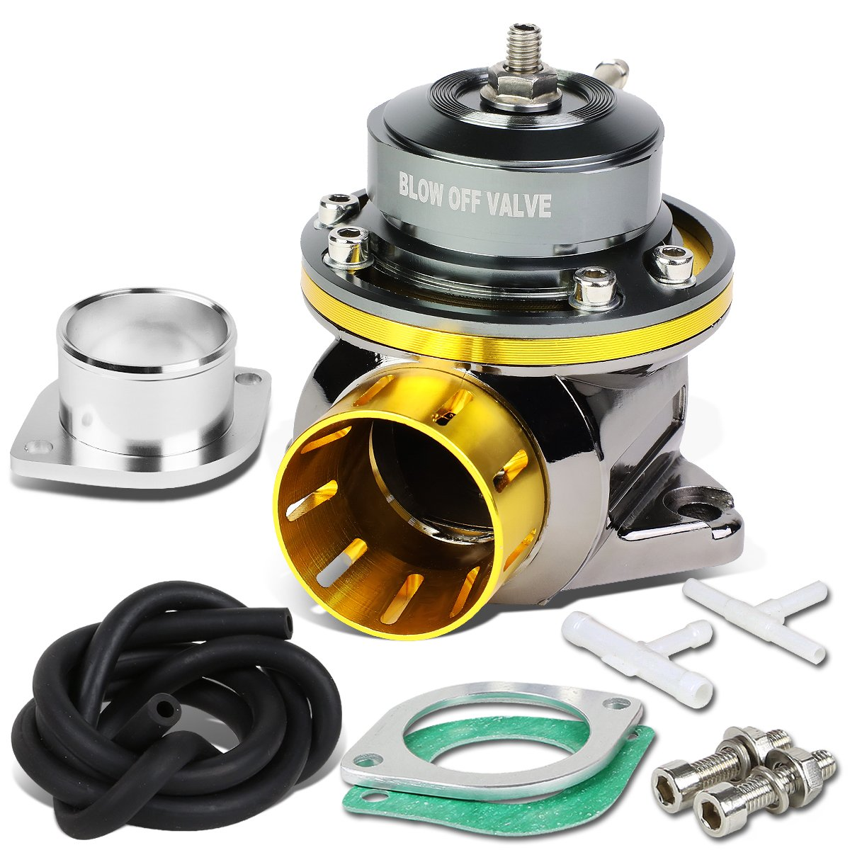 DNA Motoring PT-ZTL-8012-GD Blow-Off valve-BOV (Gold)
