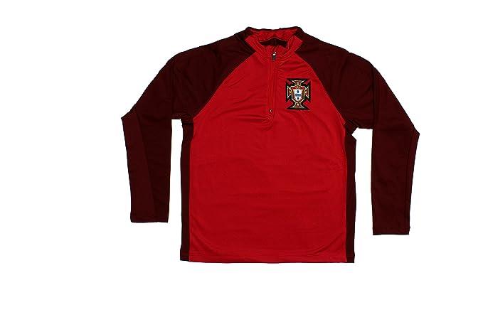 226542cdd1c Amazon.com  Portugal Jacket Portuguesa Soccer Kids Youth Half Zip Ronaldo  Tracksuit Football  Clothing