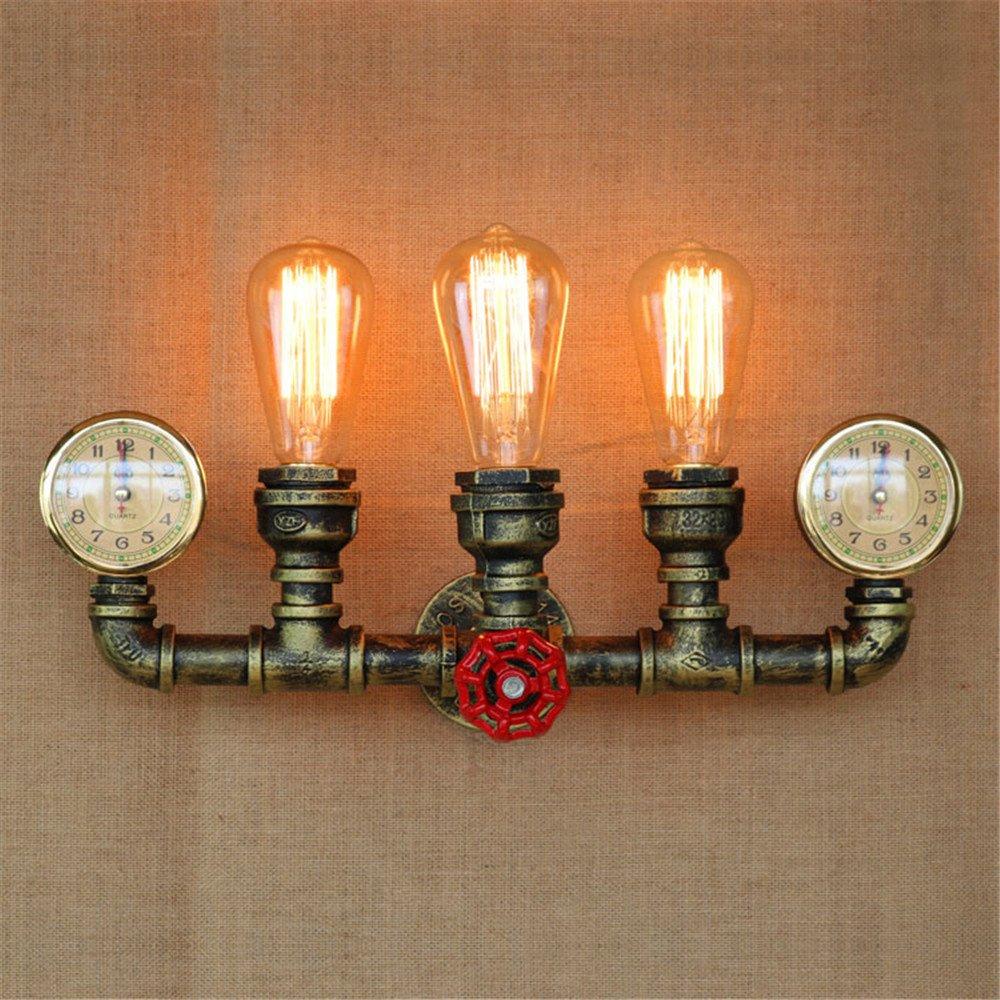 DengWu lampada da parete American style scale corridoio soggiorno creative ristorante bar creativa con acqua tubo lampada da parete, 250  450 mm