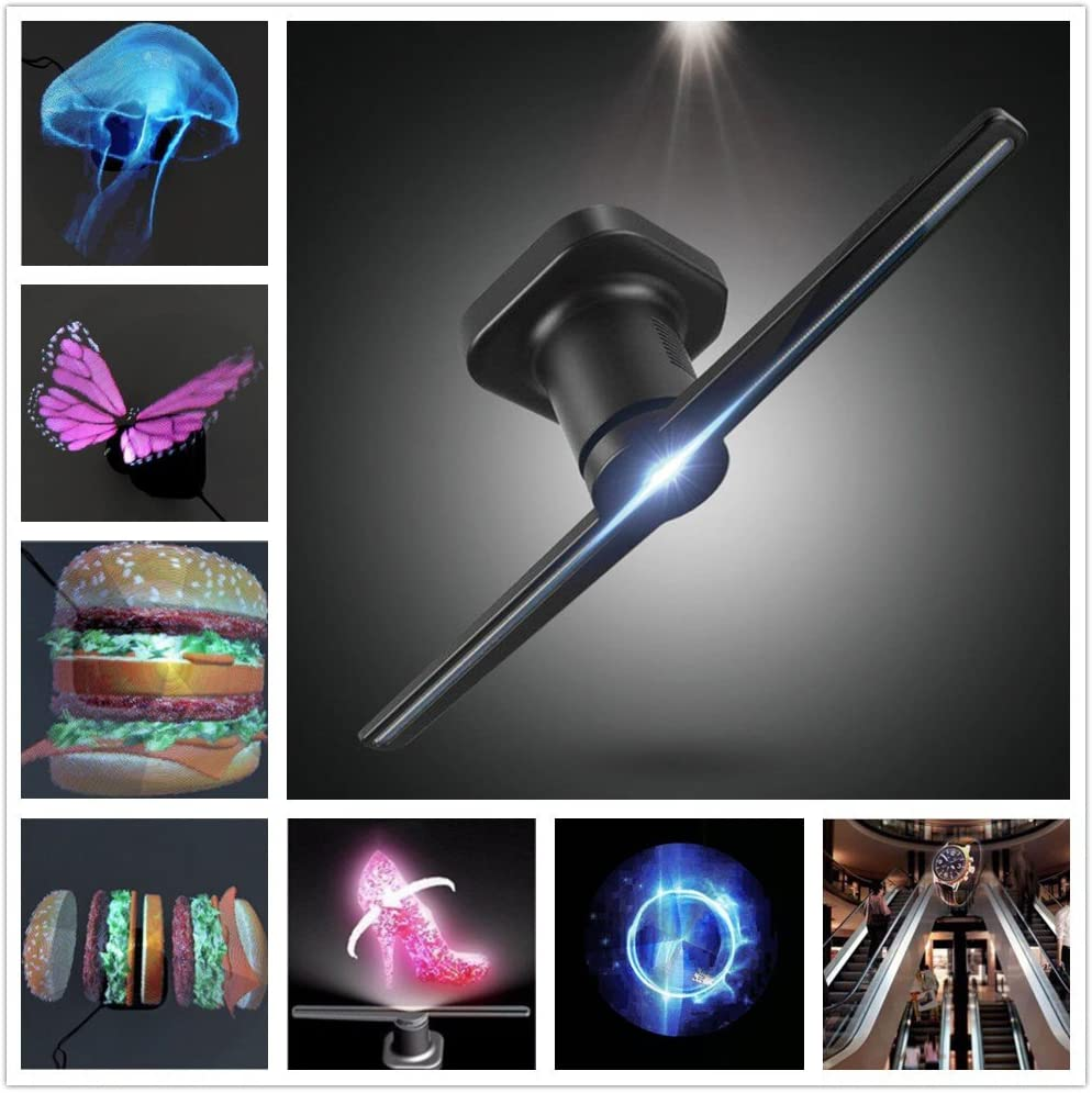 LanLan Proyector hologr/áfico LED port/átil Reproductor hologr/áfico Reproductor hologr/áfico 3D Ventilador proyector Holograma /único Reproductor de Asesoramiento hologr/áfico