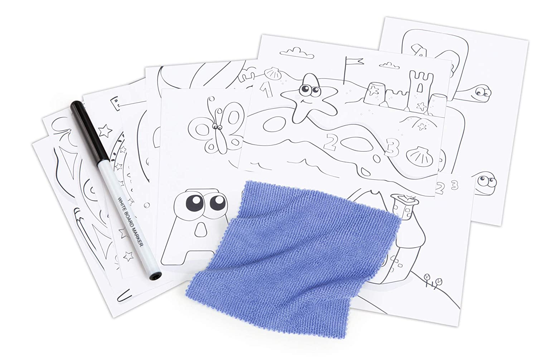 Smoby 420218 Schreibtisch Magic Blau Kinder-Schreibtisch mit integrierter Sitzbank und Schublade aus Kunststoff f/ür Kinder ab 2 Jahren blau