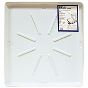 "Eastman 52525 Washing Machine Drain Pan 30"" x 32"" OD White"