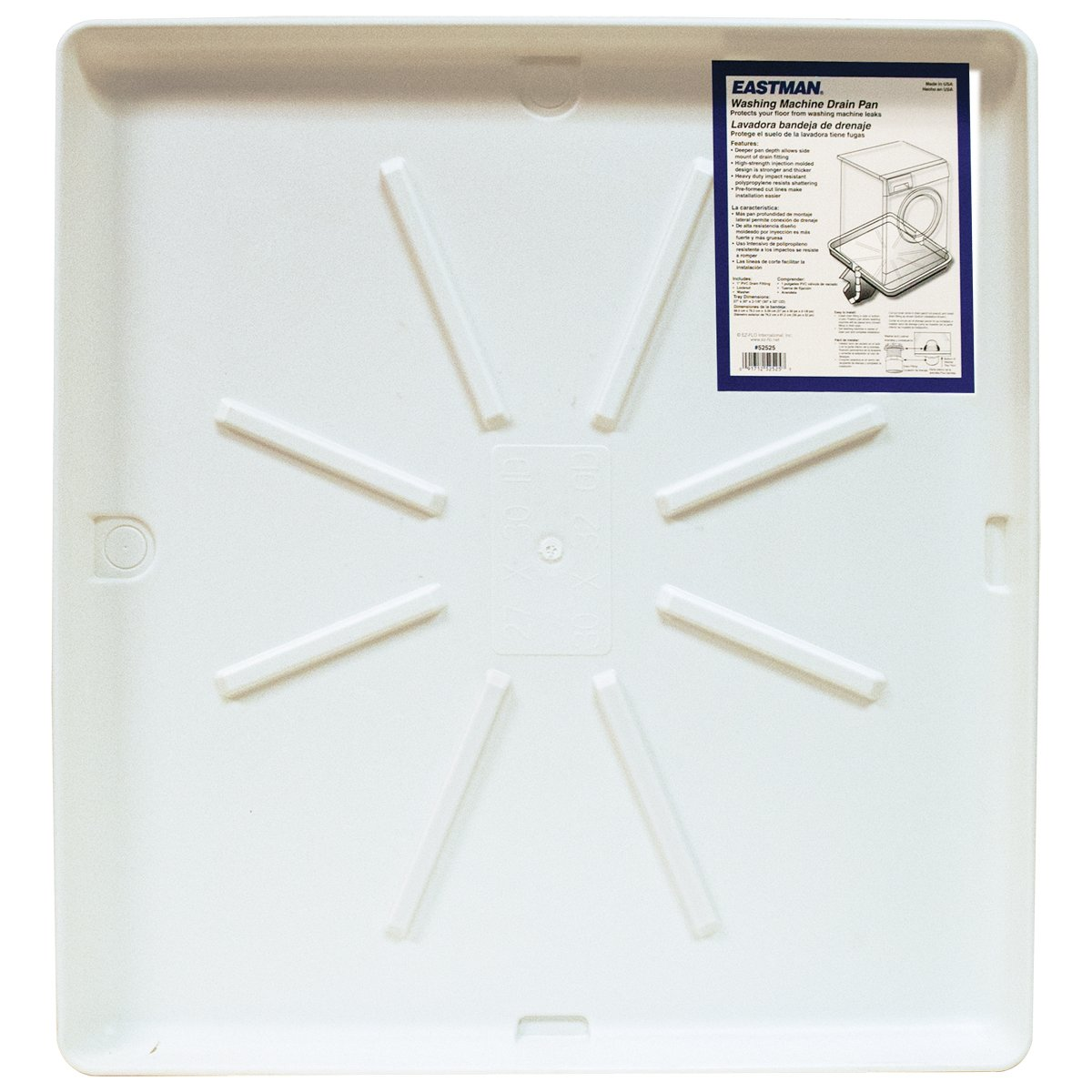 Eastman 52525 Washing Machine Pan, 30'' x 32''