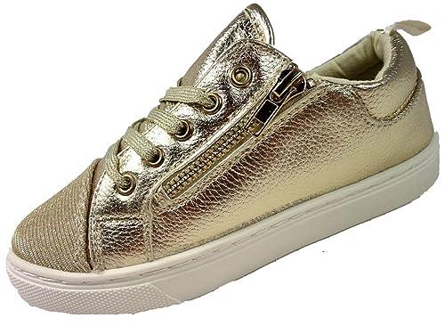 BMSWilder - Zapatillas Chica, Color Dorado, Talla 36 EU Niño: Amazon.es: Zapatos y complementos