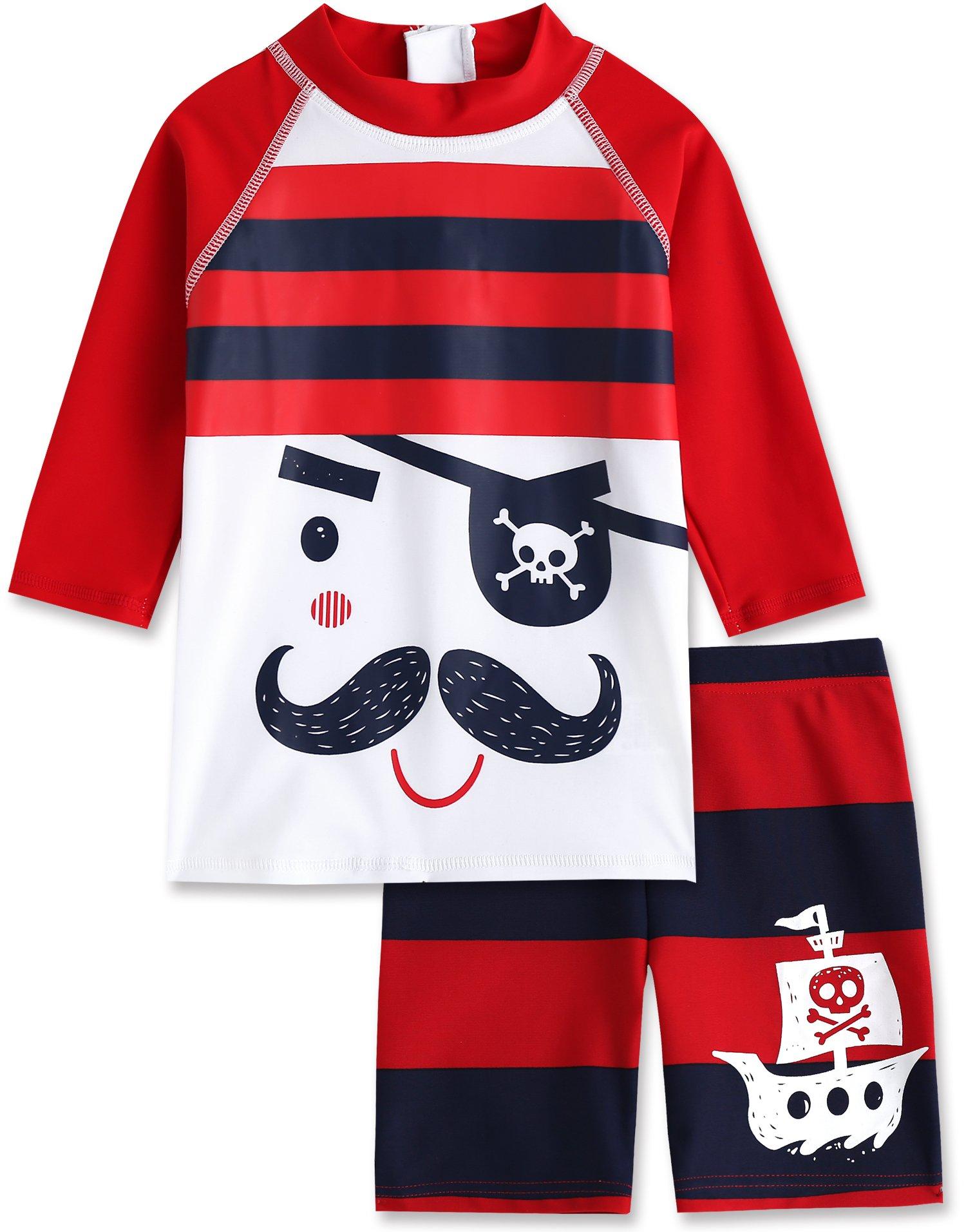 Vaenait baby 2T-7T Infant Boys Rashguard Swimsuit Captain XL