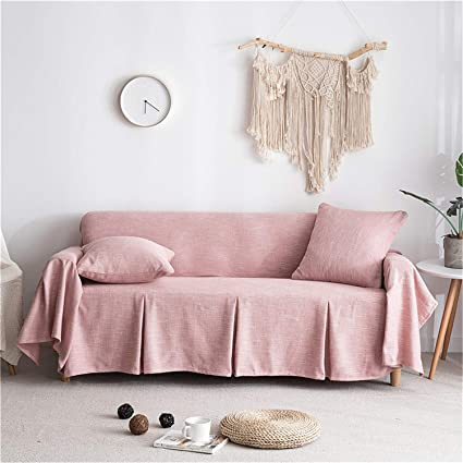 Surprising Couturebridal Sofa Slip Slipcovers Loveseat Linen Sofa Covers 1 Piece Furniture Couch Lounge Covers For Leather Sofa With One Free Cushion Case Blush Ibusinesslaw Wood Chair Design Ideas Ibusinesslaworg