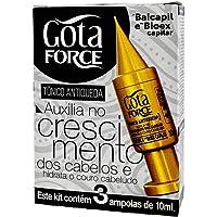 Kit Force Tônico Antiqueda Linha 10Ml, GOTA DOURADA