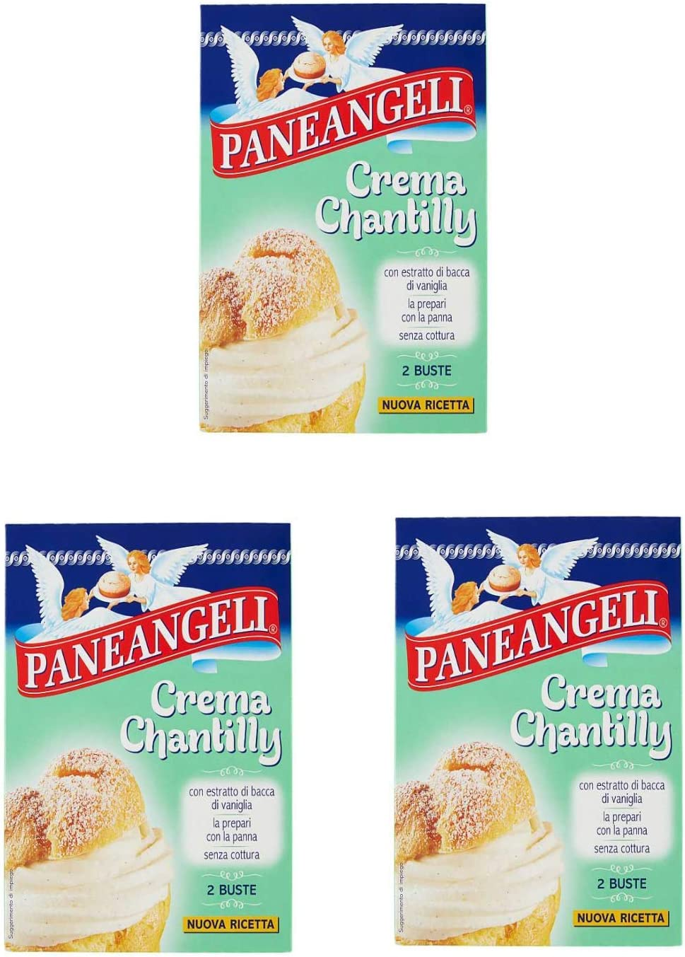 3x Paneangeli Cream Chantilly Cream Mix Cake 2x 40 Amazon Co Uk Grocery
