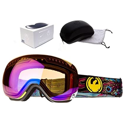 b47318146af8 Image Unavailable. Image not available for. Color  Dragon Apxs Migraine  Blue Ionized Mens Ski Snowboard Goggles