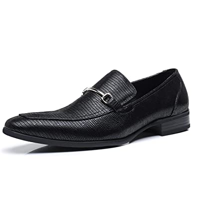 Faranzi Mens Slip On Buckle Loafer Zapatoe de Hombre Comfortable Classic Modern Formal Business Men Dress