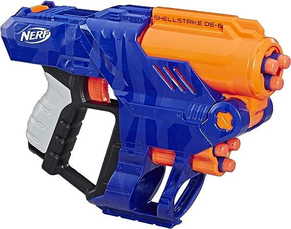 Hasbro Nerf Elite Shellstrike DS-6 Pistola de juguete