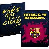 Chemise plastifiée 3 rabats Barça - Collection officielle FC BARCELONE