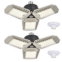 Deals on 2-Pk Ms.GOODBUY 60W 6000LM Deformable LED Garage Ceiling Lights