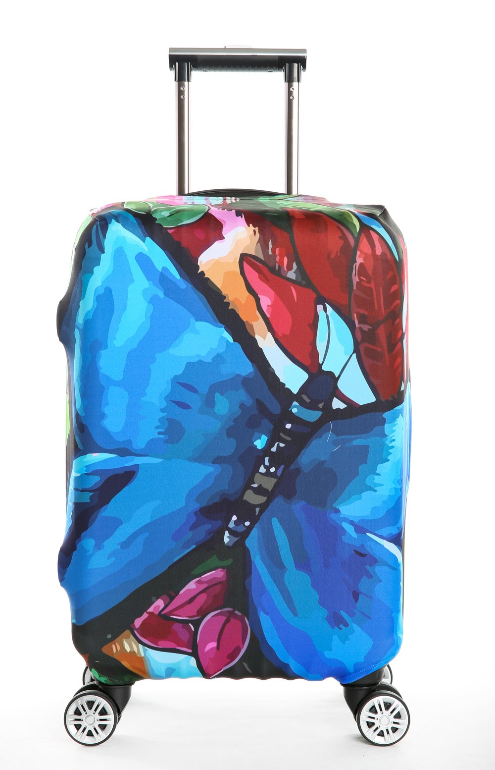 SINOKAL Luggage Covers DESIGNS 18-20 22-24 26-28 30-32 Inch Creative Color Printed Luggage Covers Spandex Travel Suitcase Protective Cover for Woman and Men