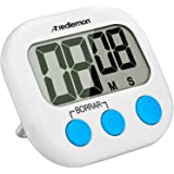 Redlemon Cronómetro de Cocina Digital con Temporizador de Dígitos Grandes, con Imán para Refrigerador, Pantalla LCD, Alarma,