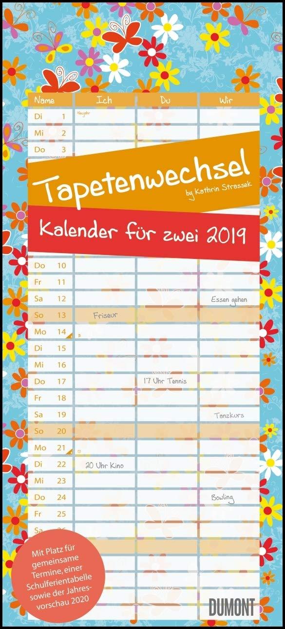 Tapetenwechsel 2019 - Kalender für zwei - Notizkalender - Partner-Planer - Format 22 x 49 cm