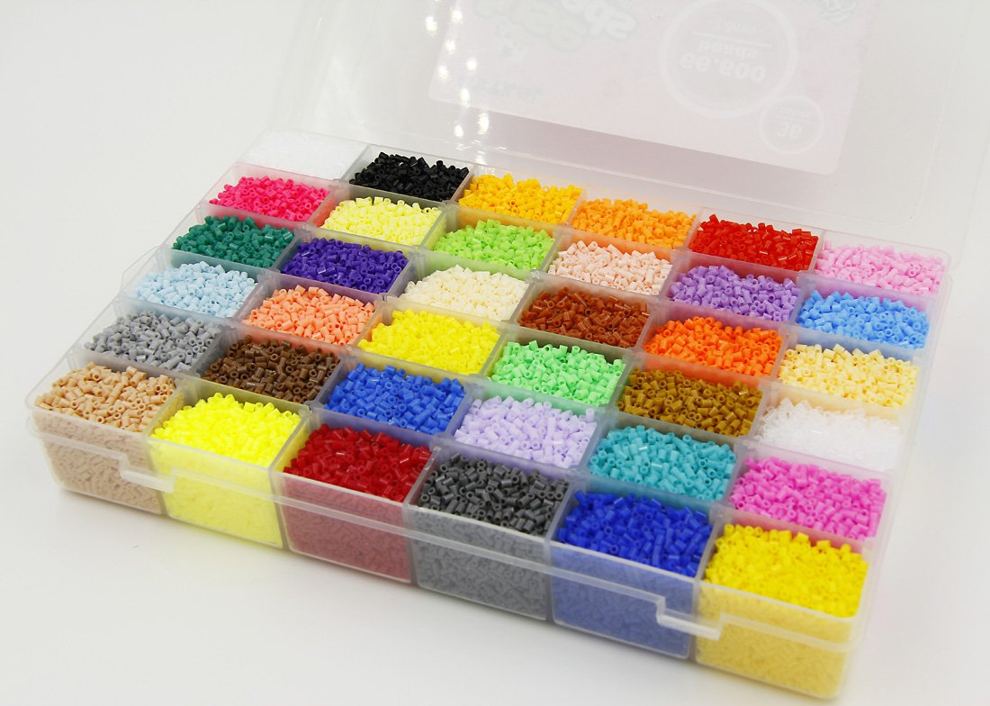 ARTKAL A-2.6mm SOFT Mini Beads 36 Colors 66,600 Fuse Beads Assorted in a Storage Box CA36 (IT'S MINI BEADS NOT STANDARD MIDI BEADS) by ARTKAL