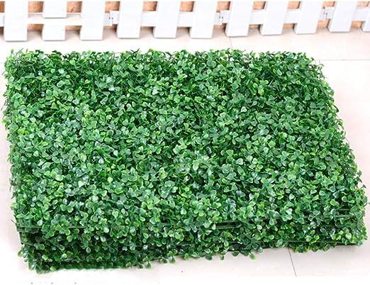 WEWE Hierba De Seto Artificial, Planta Hang Pared Hierba Flor Hoja De Cobertura Cobertura Cobertura Cobertura De Proyección Al Aire Libre Pared Decoración Jardín-a 40x60cm(15.7x23.6inch): Amazon.es: Jardín