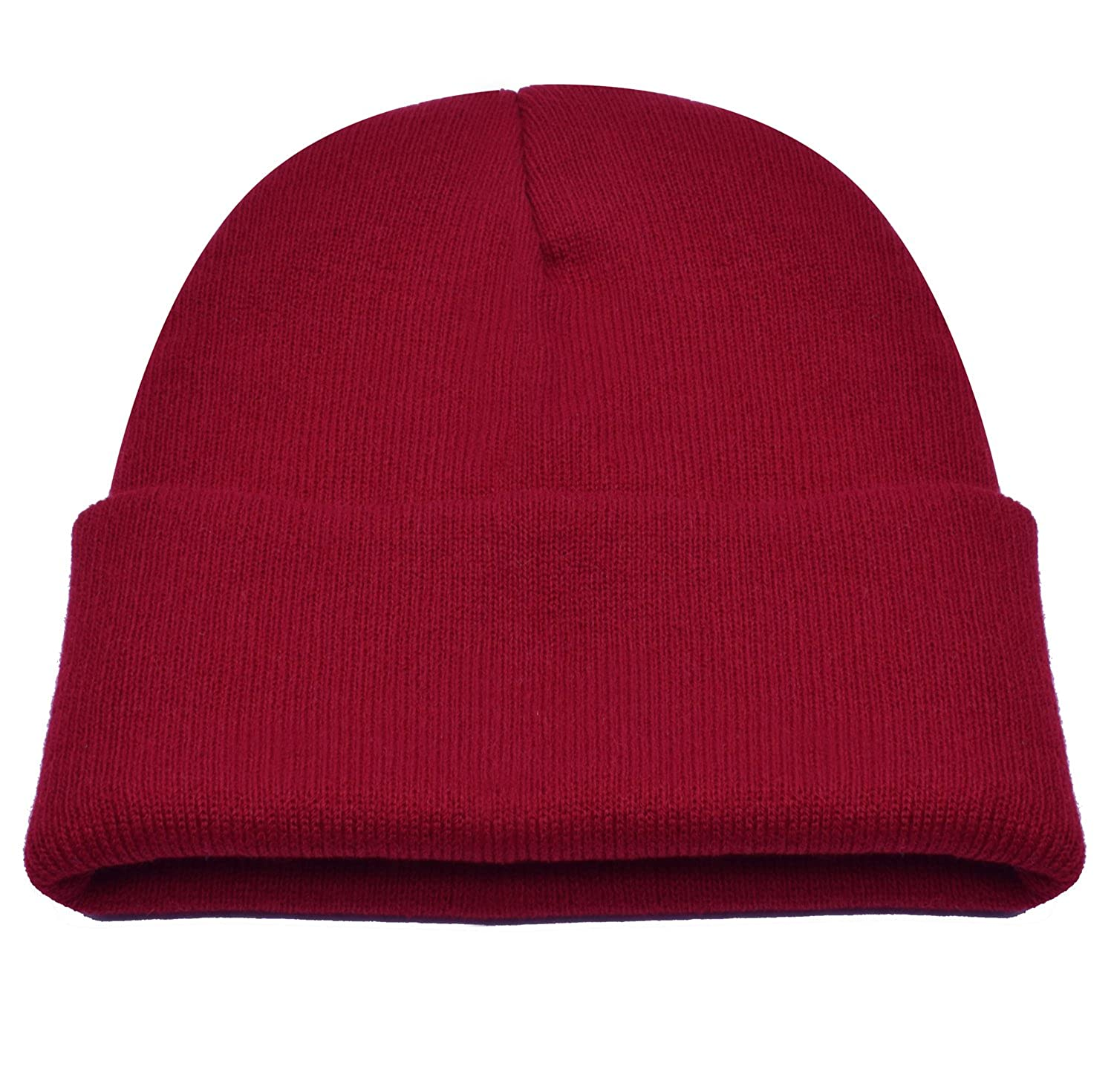 b7ddb8120d6 PZLE Knit Hat USA Sport Winter Hats Red Watch Cap Beanie Red Hat Caps Dark  Red at Amazon Men s Clothing store