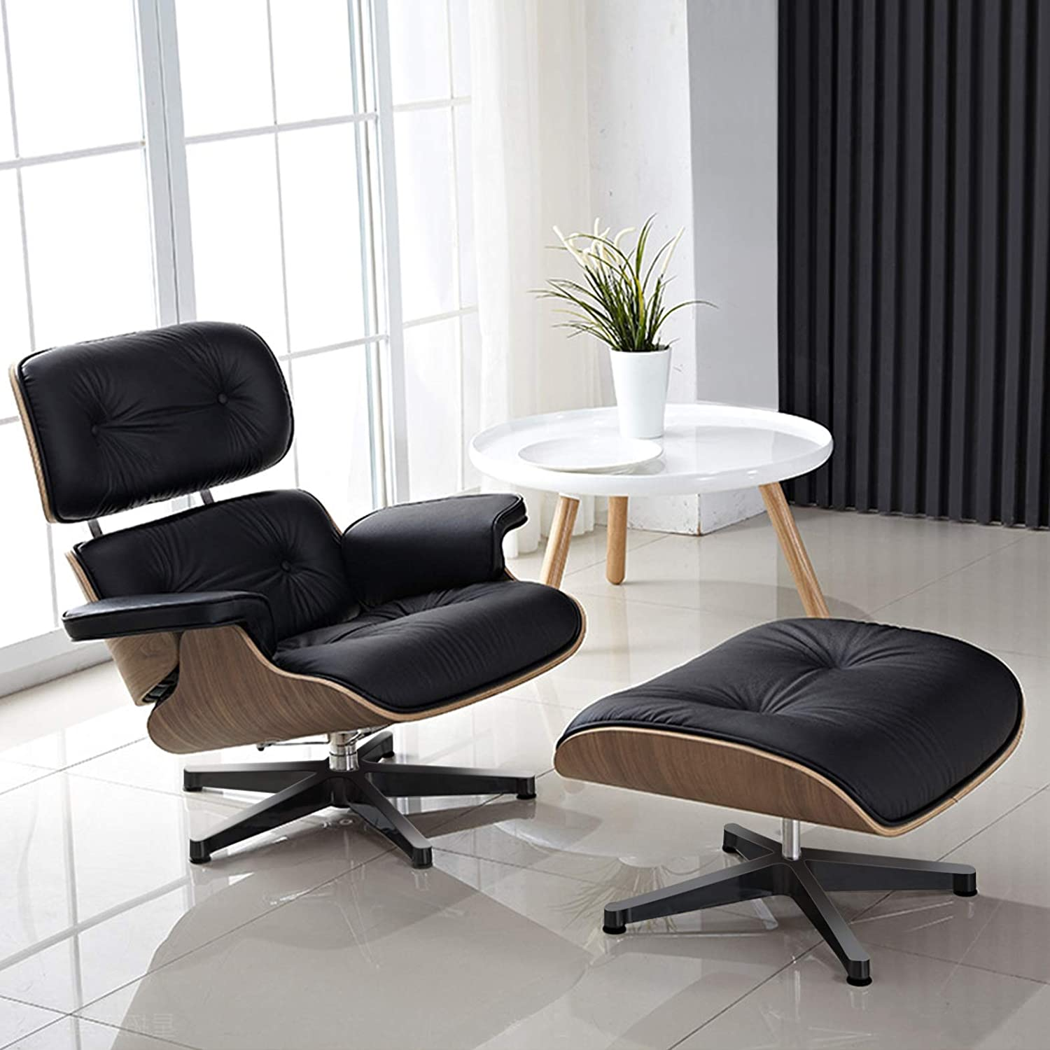 10. Mid Century Lounge Chair and Ottoman - Best For design ($609)