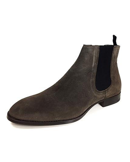 41f22d838d9 Zara Men's Grey Leather Ankle Boots 5062/302: Amazon.co.uk: Shoes & Bags