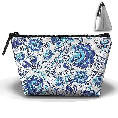 Unisex Stylish And Practical Elegant Artistic Flower Texture Pattern Trapezoidal Storage Bags Handbags