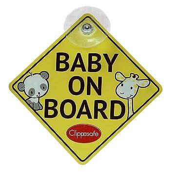 Clippasafe Schild Baby On Board Und Child On Board Baby