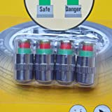 4PCS Car Auto Tire Pressure Monitor Valve Stem Caps Sensor Indicator Eye Alert