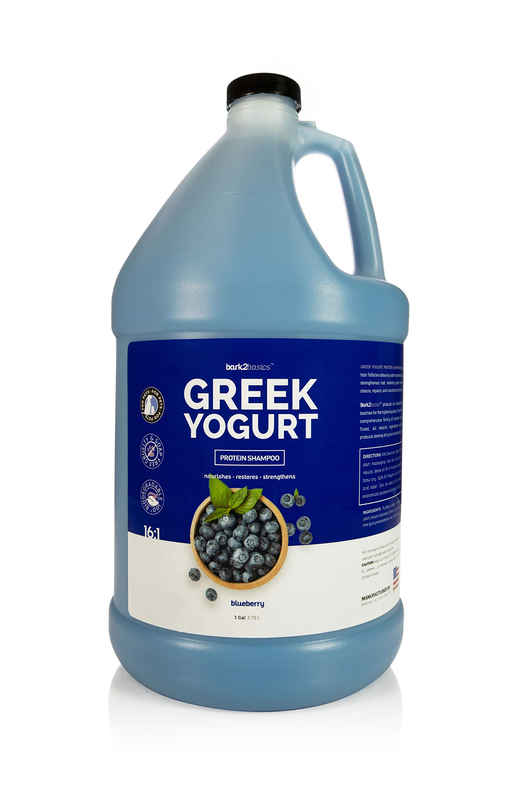 Bark 2 Basics Blueberry Greek Yogurt Shampoo, 1 Gallon